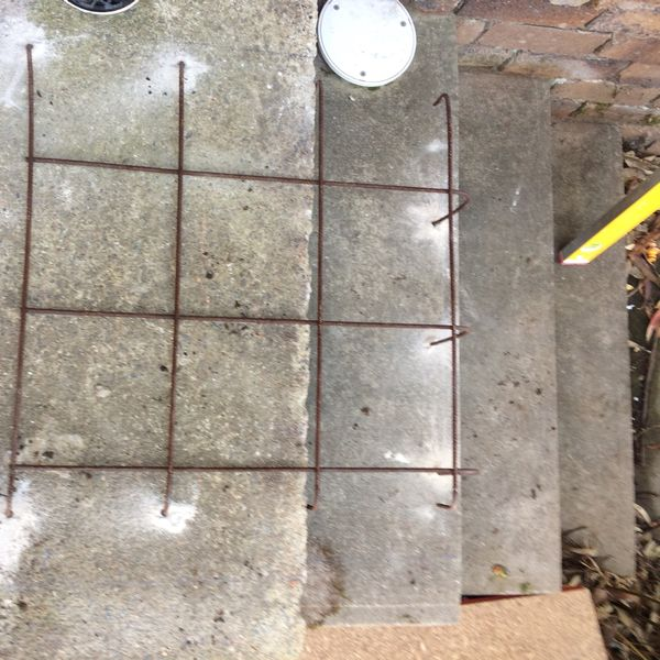 Concrete Slab for Water Heater - During