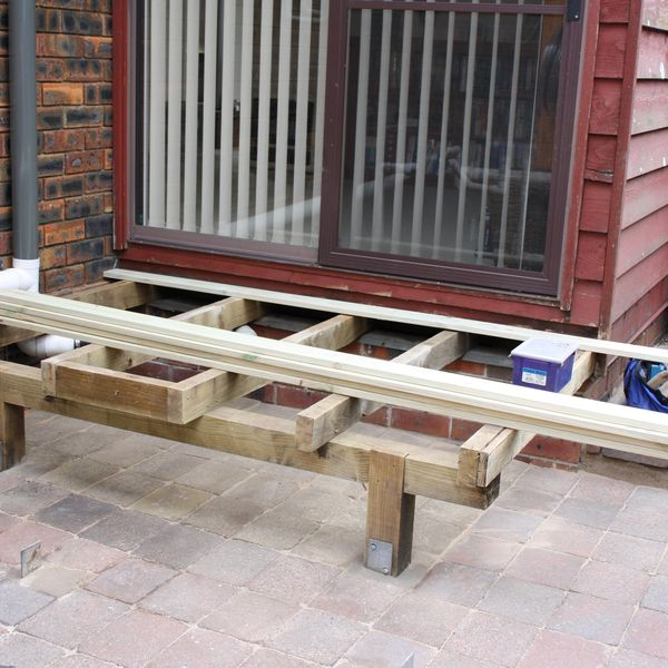 Deck with steps replacement - Springwood