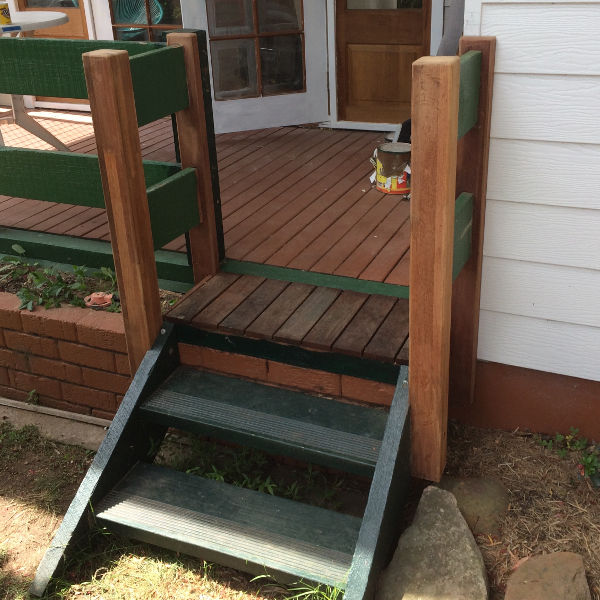 New handrail for stairs - Glenbrook - After
